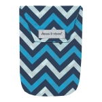 Chevron Blue with Wipes Case